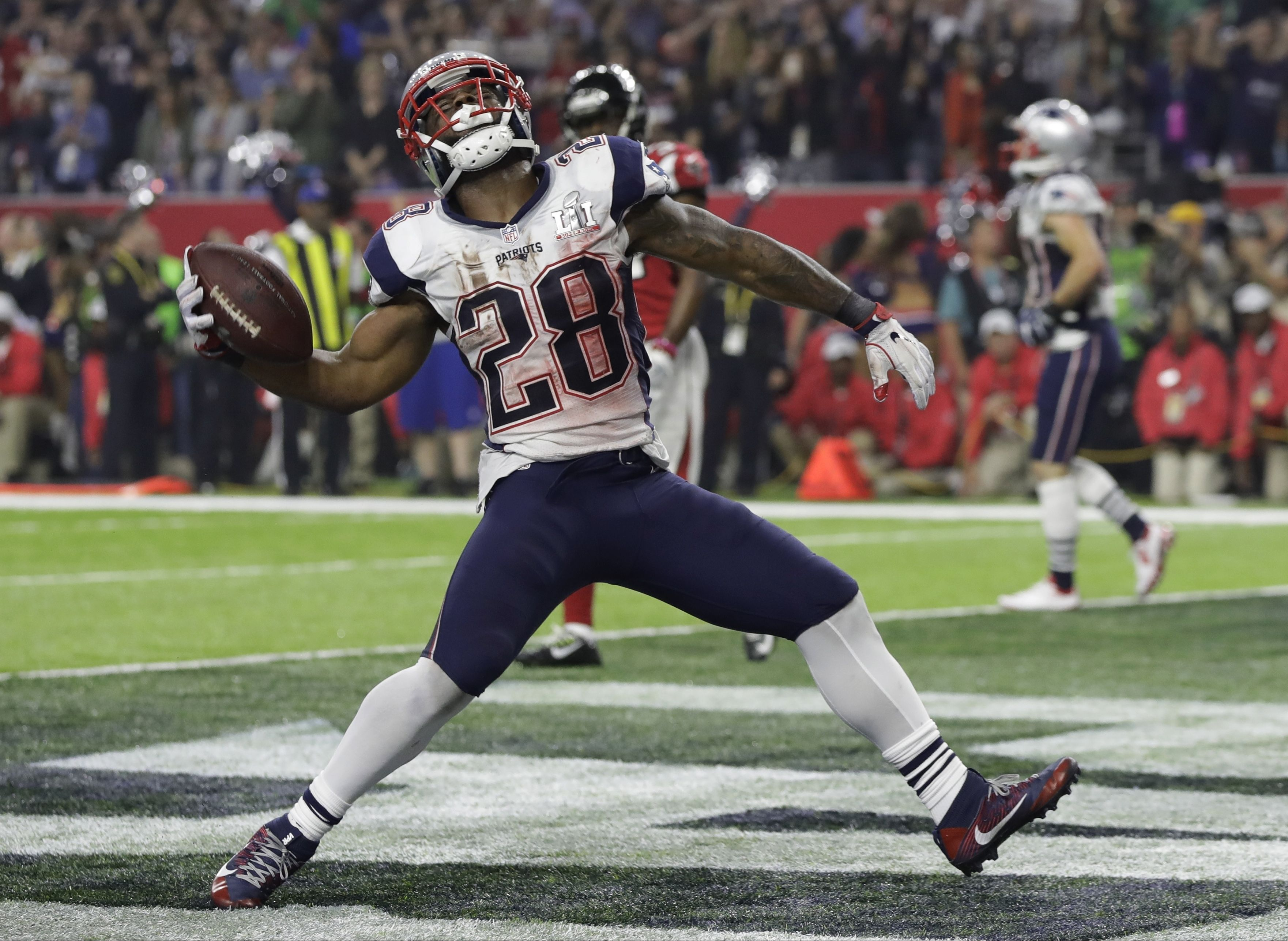 James White Was Amped After Scoring A Td In Super Bowl Li