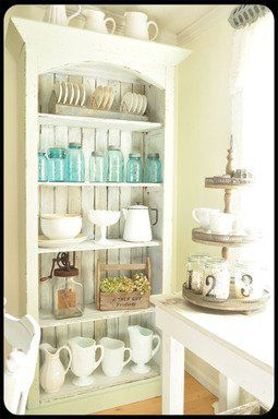 white re-purposed kitchen hutch retail products - Google Search