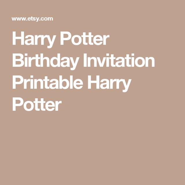 Harry Potter Birthday Invitations