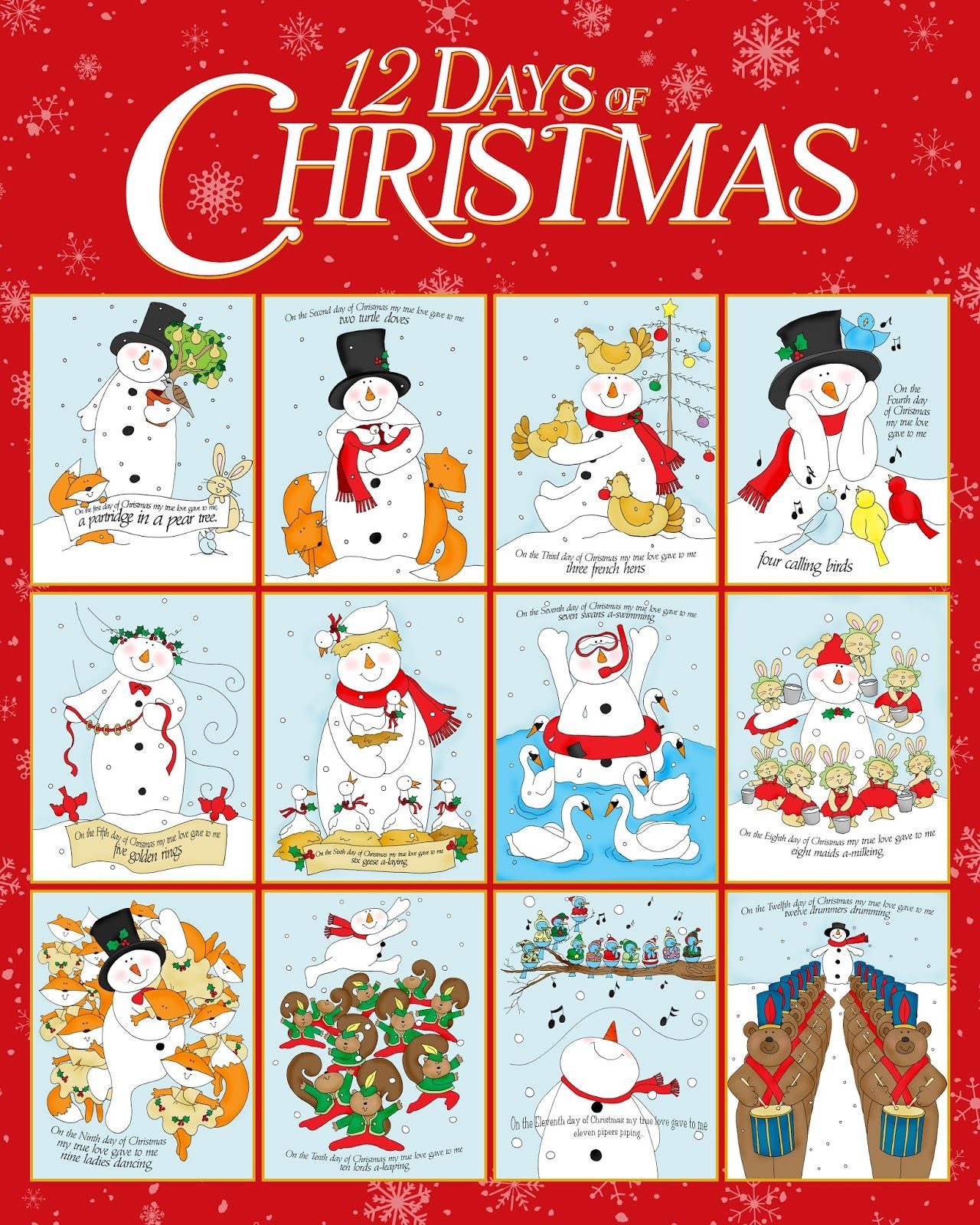 Free Dearie Dolls Digi Stamps Poster Of 12 Days Of Christmas Is Can Be Printed Out To