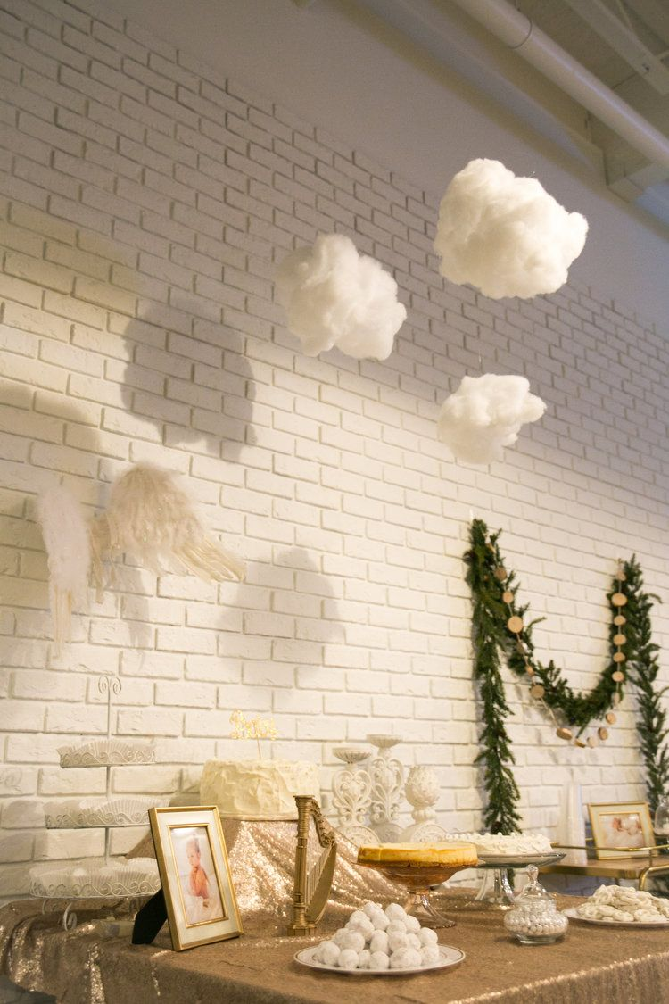 Heaven Sent Baby Shower Theme at the