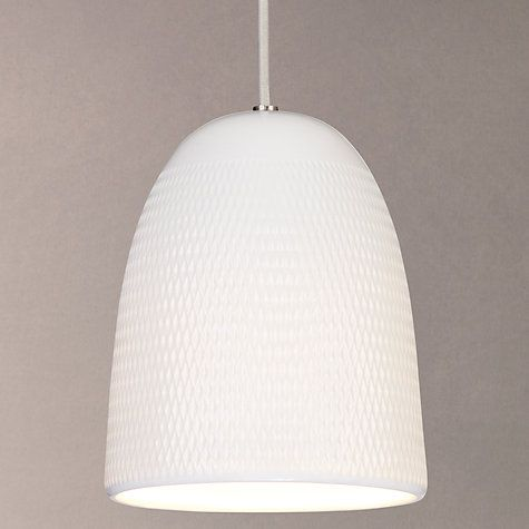 Buy john lewis fitcham textured porcelain pendant ceiling light buy john lewis fitcham textured porcelain pendant ceiling light white online at johnlewis mozeypictures Choice Image