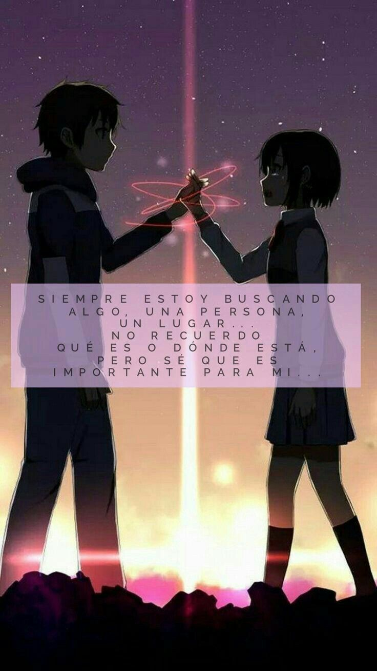 Frases De Anime Your Name Manga Love Kimi No Na