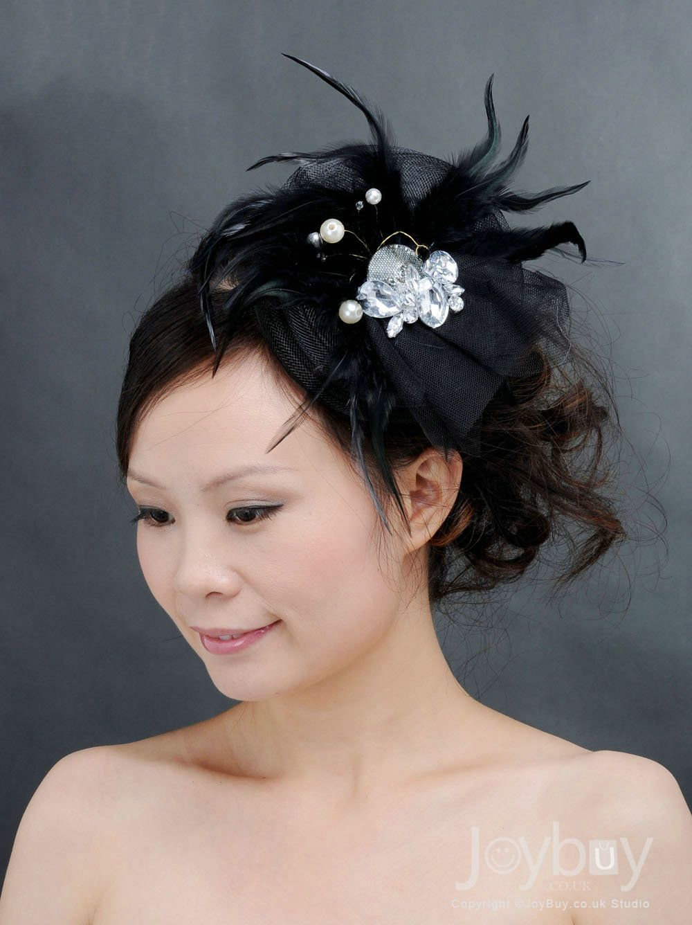 red and black hair accessories | black headpiece flower girl hair