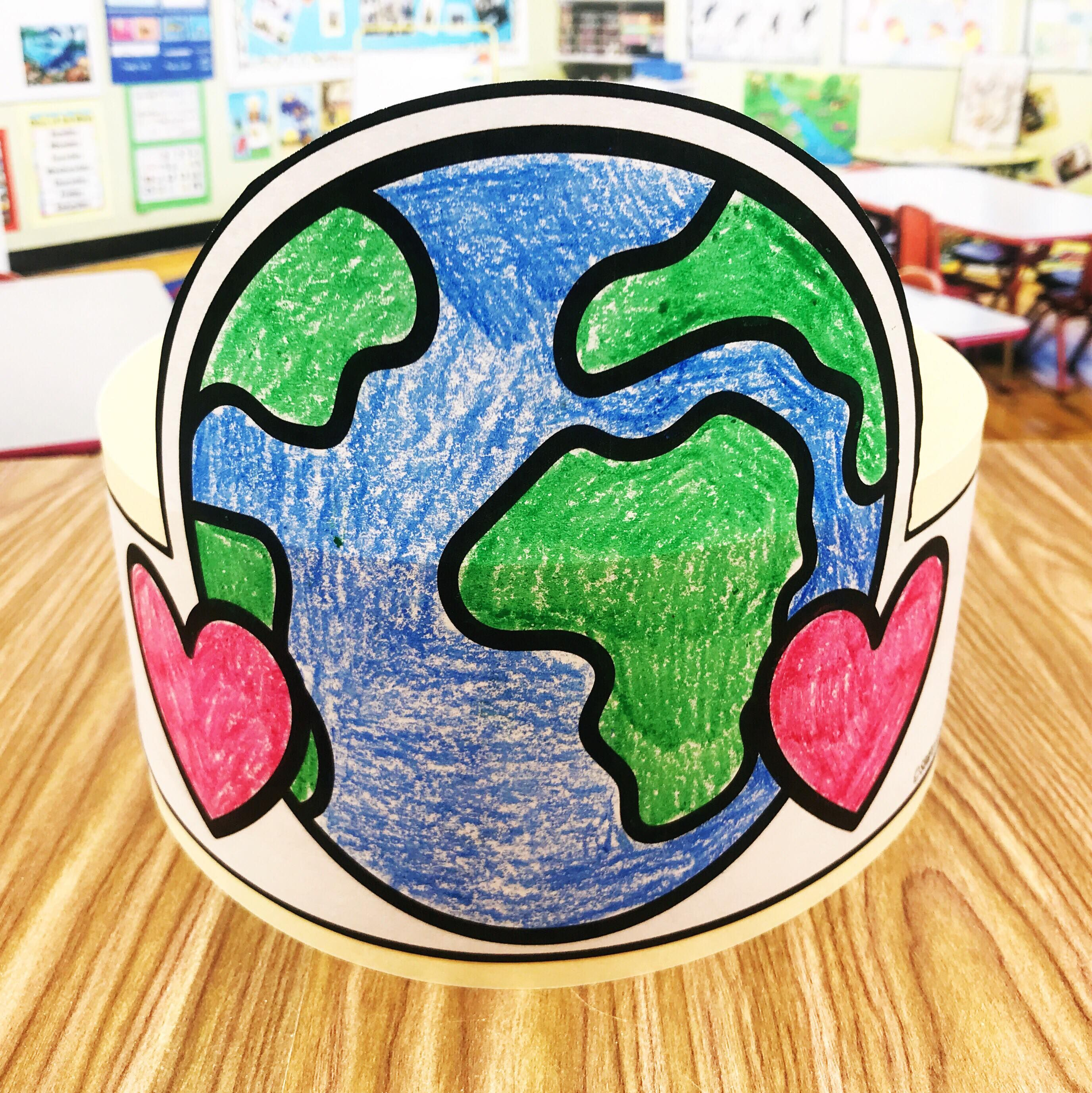 Free Earth Day Hat | Simply kinder, Pre-school and Earth