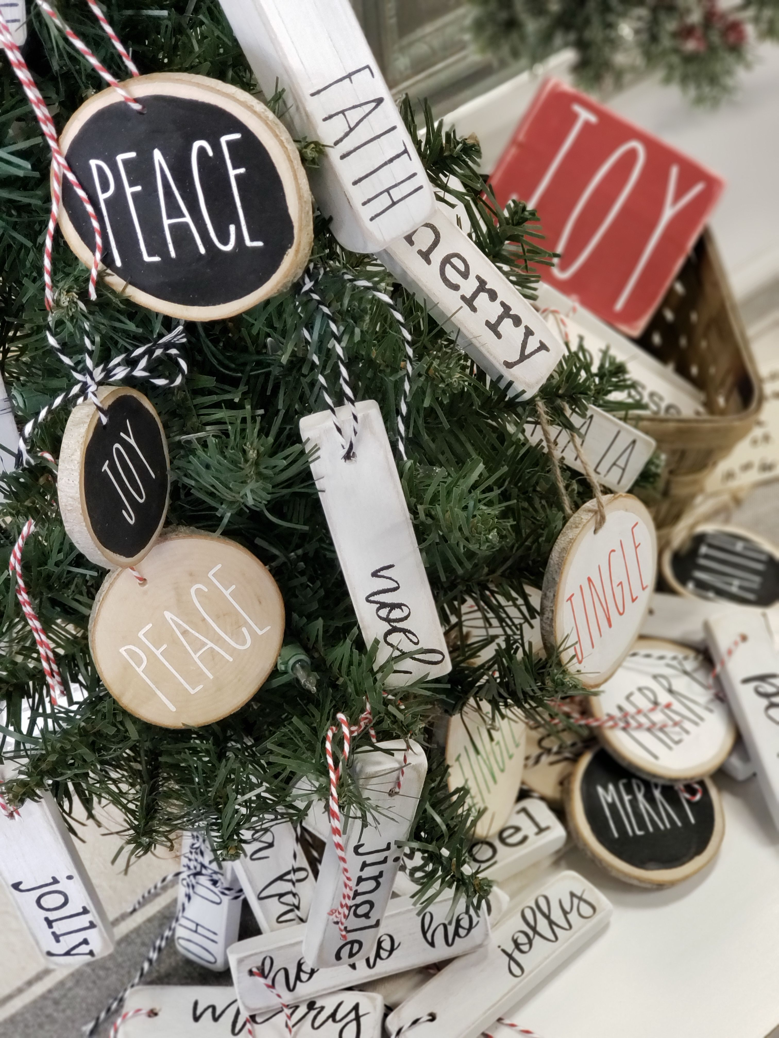 Seriously the cutest ornaments Rae Dunn inspired ornaments