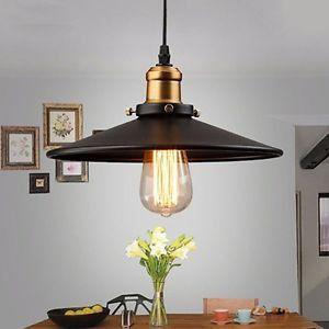 Rétro vintage Suspension Métal Lustre industriel Plafonnier Lampe
