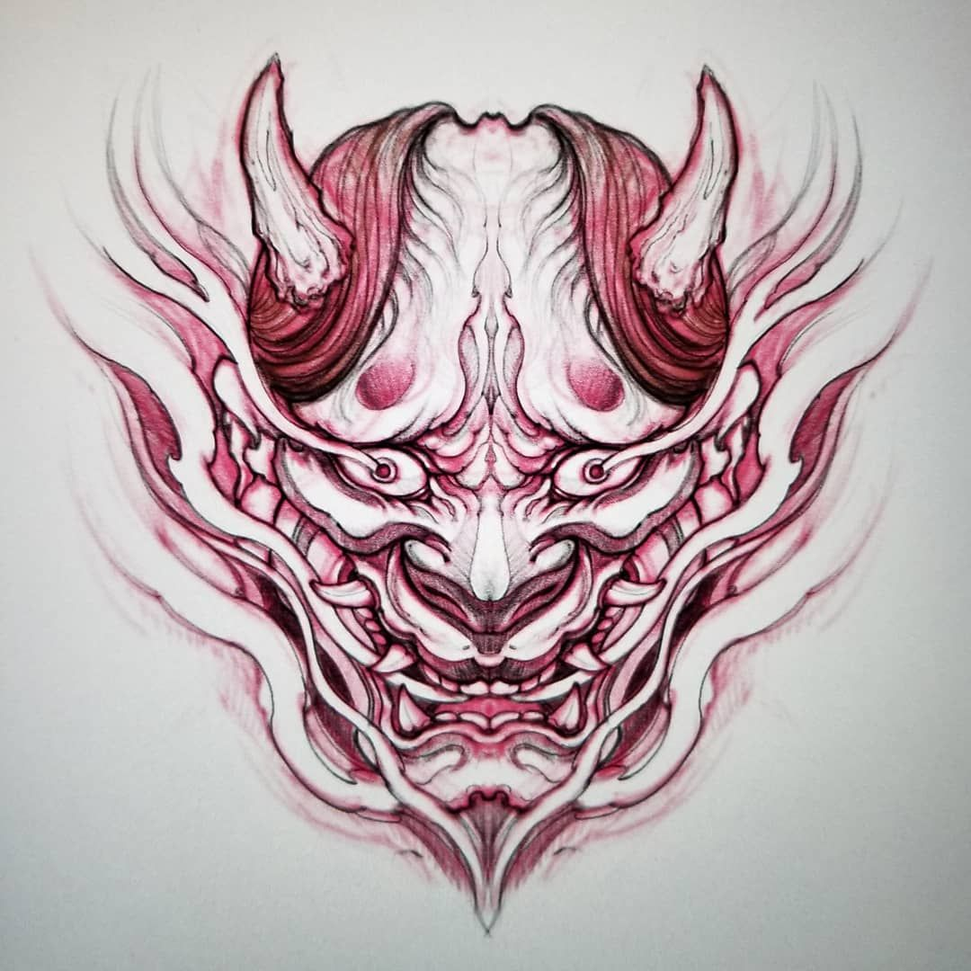 Hannya Sketch Hannya Asiantattoo Asianink Irezumi Drawing