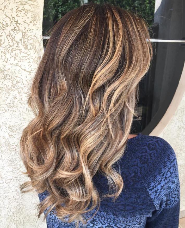 Curly Caramel Brown Balayage Hair Brown Hair With Caramel Highlights Caramel Hair Balayage Hair