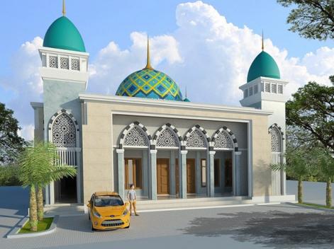 desain eksterior masjid