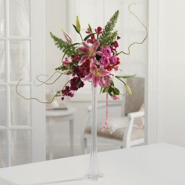 Check Out How This Tall Empire Vase Arrangement Is Made By Professional  Florists!