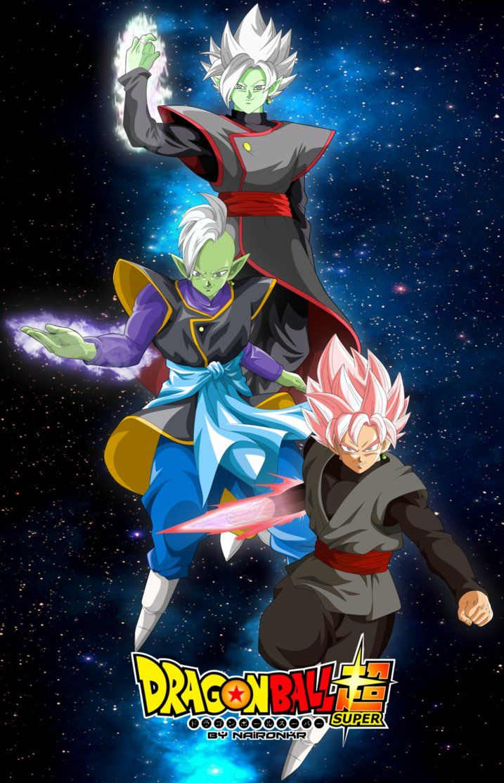 Goku Black Zamasu And Fusion Zamasu Dragon Ball Pinterest