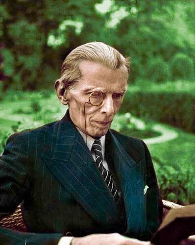 mohammad ali jinnah edited photo an attempt to turn black white photo into - Turn Black And White Photo Into Color