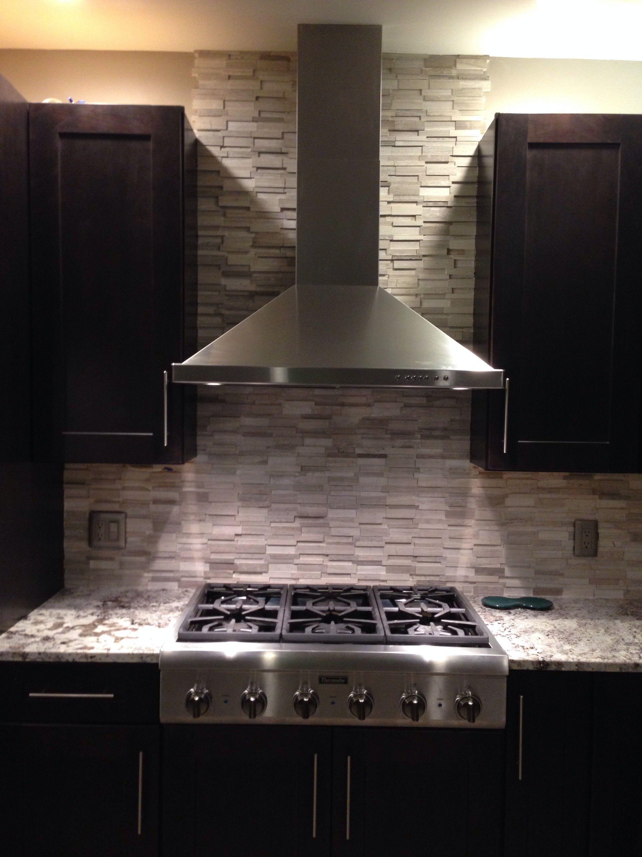 3D Stone Polished Grey Brick Stone Mosaic Tile Backsplash