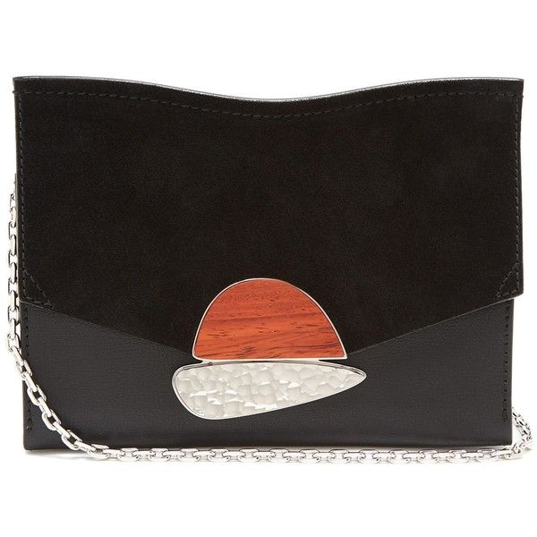 Curl Small Embellished Textured-leather And Suede Shoulder Bag - Black Proenza Schouler RY0qeE