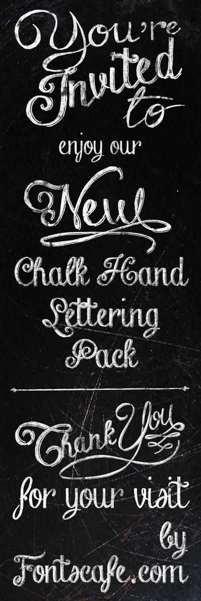 Download Chalk Hand Lettering Pack fonts   Fonts Cafe (paid font ...