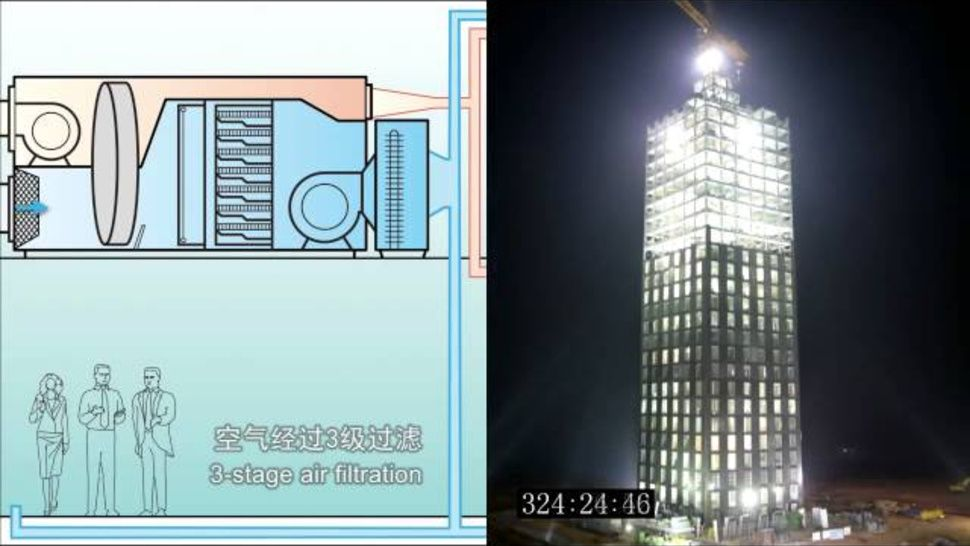 Amazing Timelapse of 30-Story Building Constructed In Only 360 Hours  ( i wonder how many people worked on it - that data isn't in the story....)