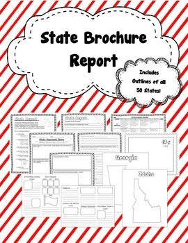Brochure state research report brochure template 50 states and state brochure report includes directions brochure template grading rubric notes page and outlines of all 50 states maxwellsz
