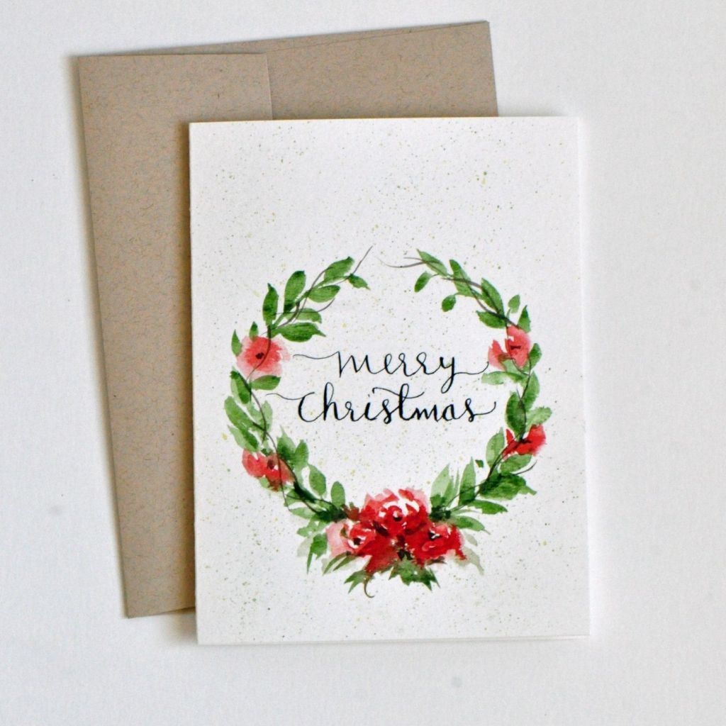 Christmas Card Ideas to Paint Beautiful Hand Painted