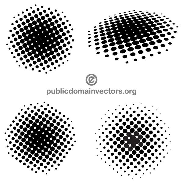 Halftone Dots Vector Illustrator Halftone Dots Halftone Halftone Design