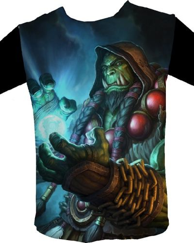 WOW Thrall t shirt World of Warcraft Frostwolf Clan chiefs black tee shirt for men-