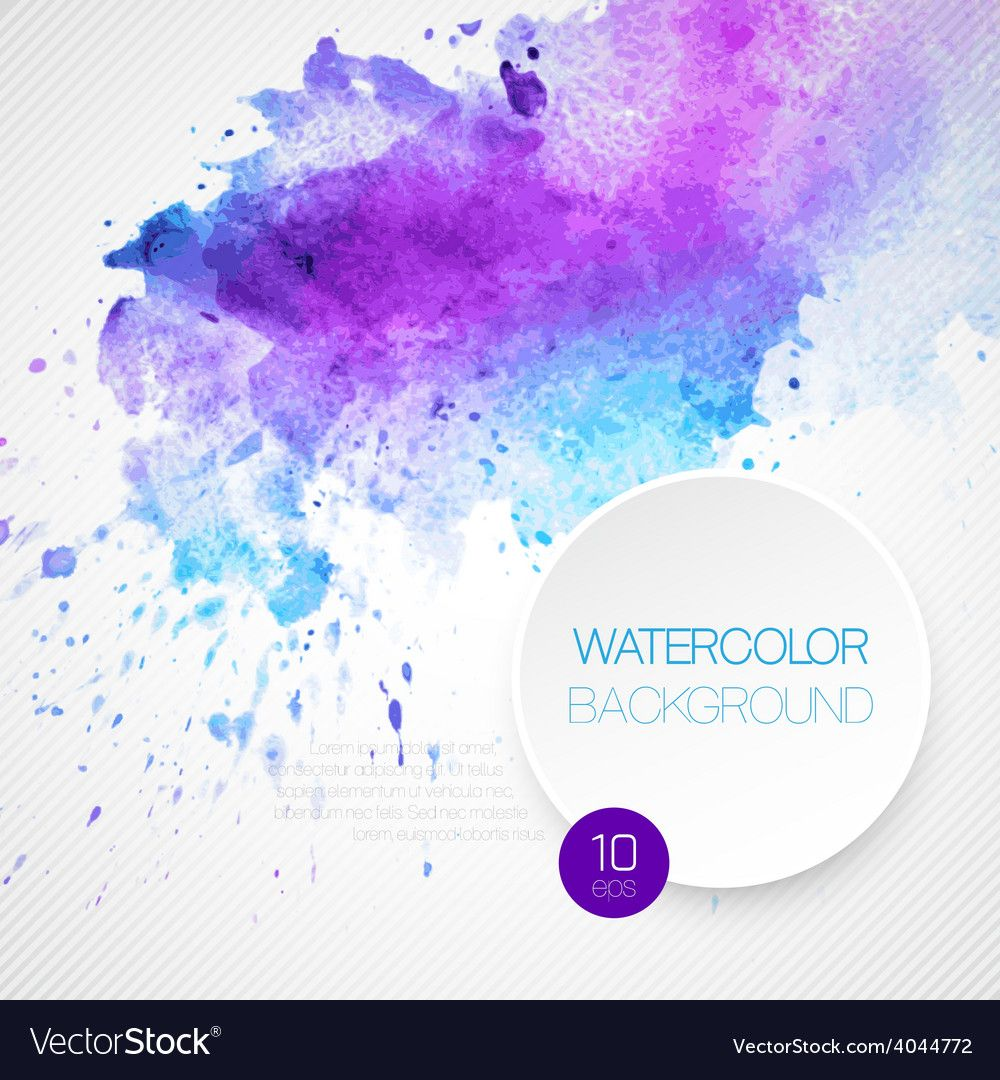 Watercolor Background Vector Image On Watercolor Background