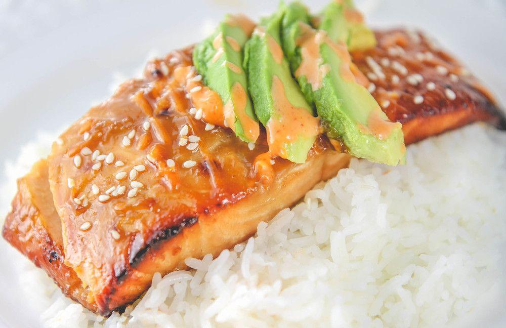 Photo of Baked Teriyaki Salmon with Mayo and Sriracha Sauce — Vietnamese Home Cooking Recipes