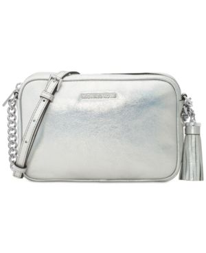 Michael Michael Kors Ginny Medium Camera Bag - Silver  319e50d955c24