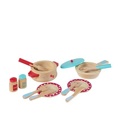George Home Wooden Cooking Set Kids George At Asda