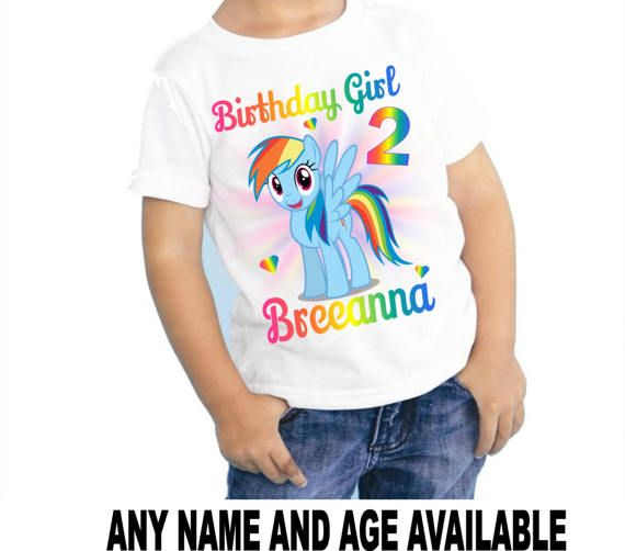 Rainbow Dash My Little Pony Personalized Custom Birthday Shirt