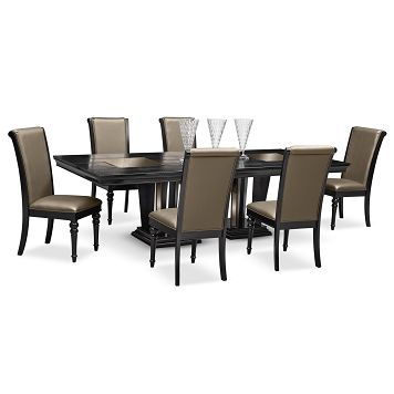 American Signature Furniture Paradiso Dining Room 7 Pc Dining Room 1 899 93 Value City Furniture City Living Room Dining Room Sets