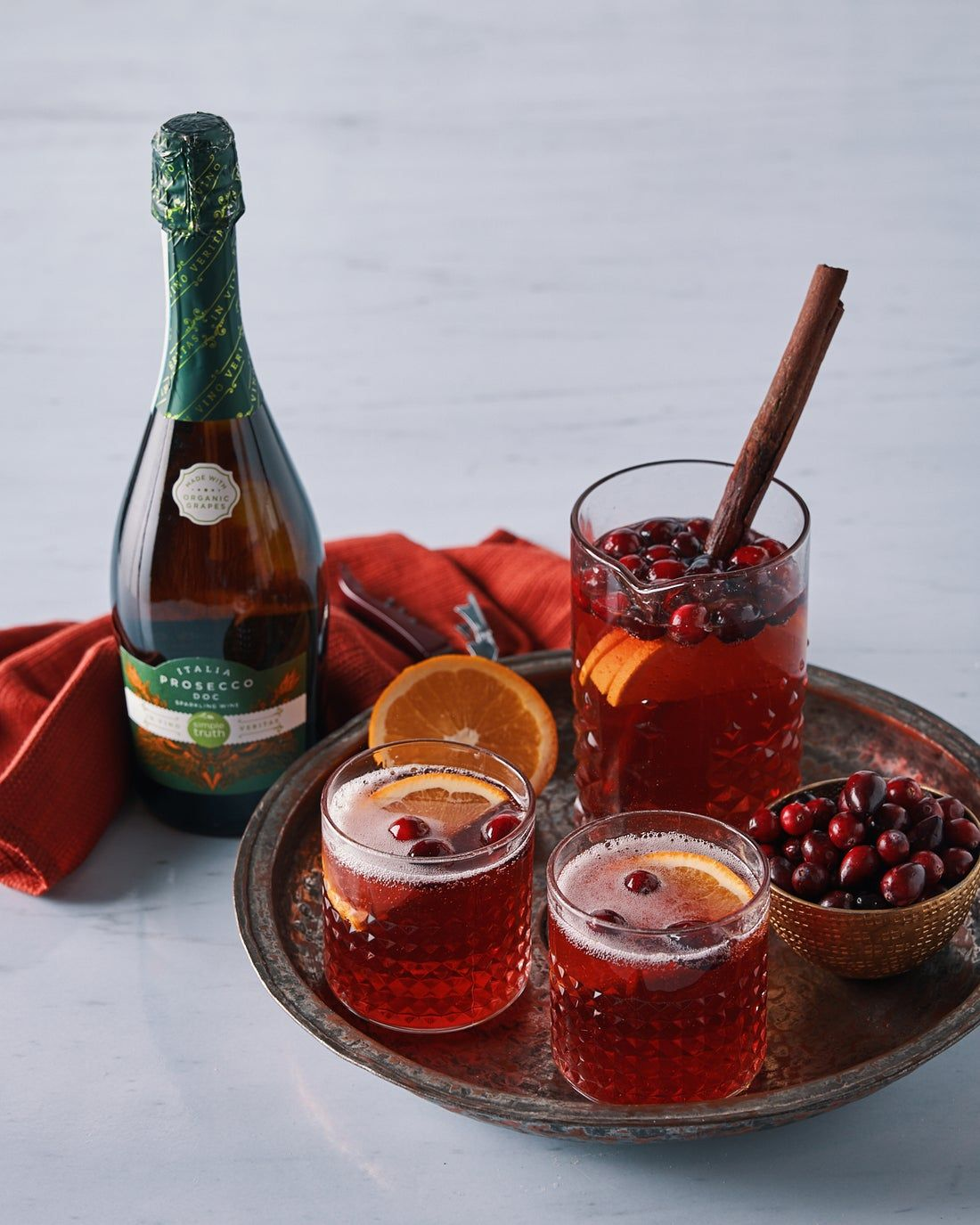 8 Big Batch Wine Cocktails To Make Your Holiday Party A Hit Pear Drinks Frozen Cranberries Apple Cider Sangria