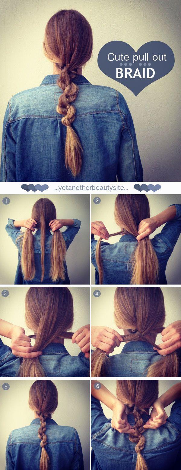 DIY - Cute Pull Out Braid - Step By Step Hair Tutorial ...