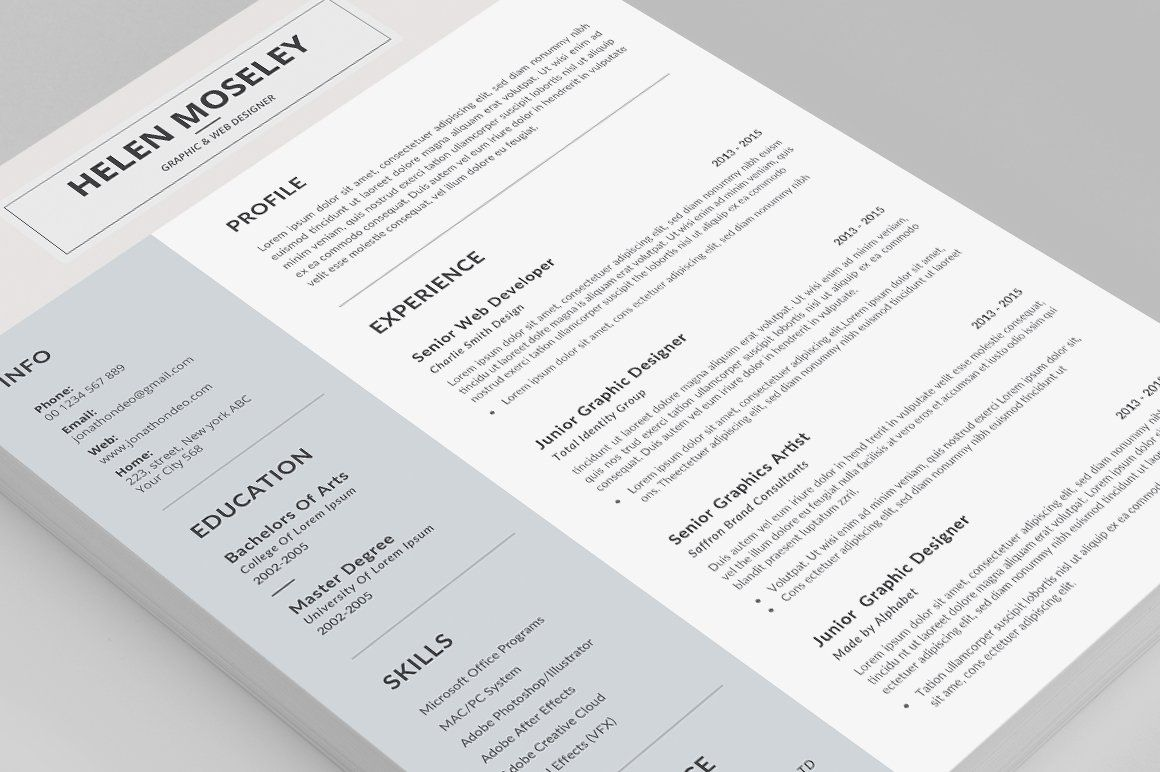 Resume Cv Ad Affiliate International Iso Paper Page Unique