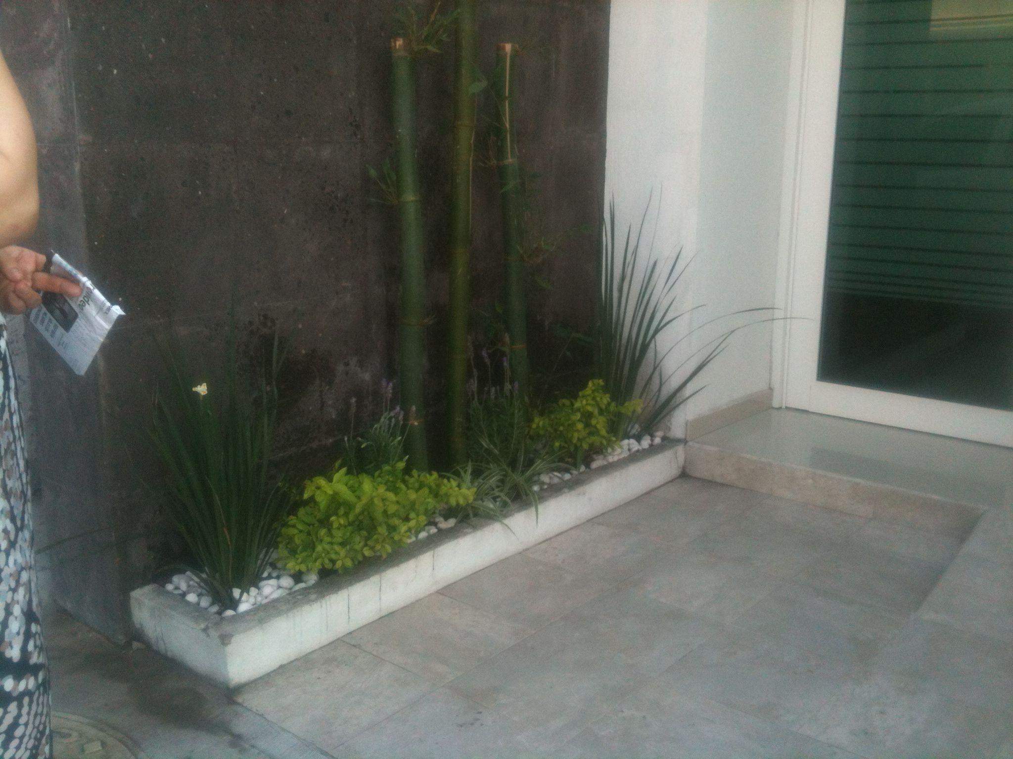 Jardines peque os con bambu y piedra blanca exteriores - Disenos de jardines con piedras blancas ...