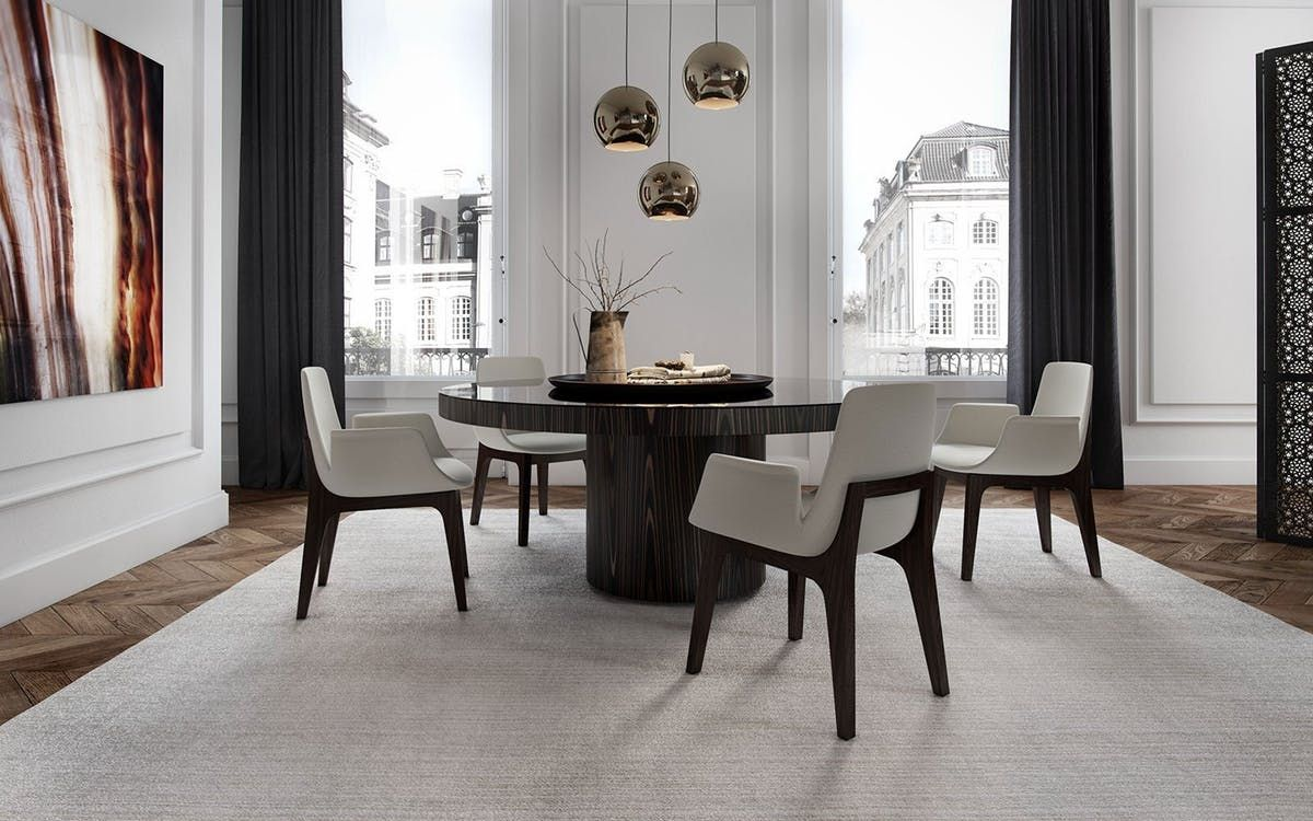 Modloft Berkeley Dining Table Round Marble Table Dining Room