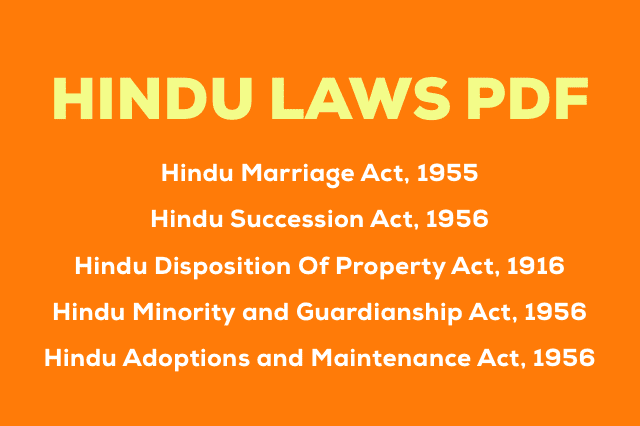 Pdf Hindu Law Pdf All 5 Hindu Laws Updated 2020 With Images