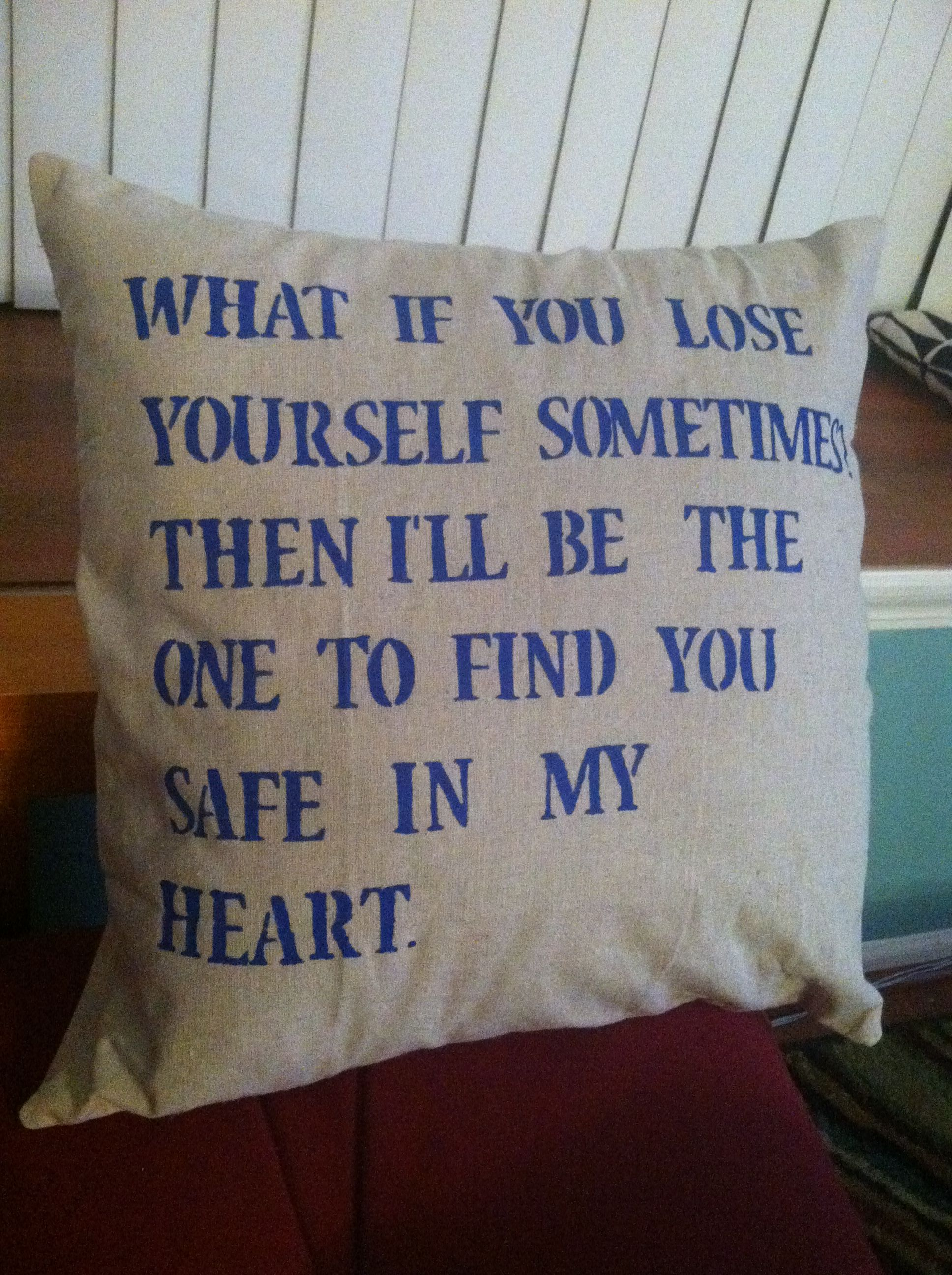 Ingrid Michaelson Quote Pillow