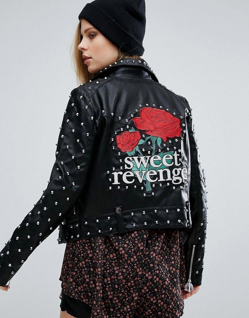 Buy it now. Pull & Bear Star Studded Jacket Black. Biker