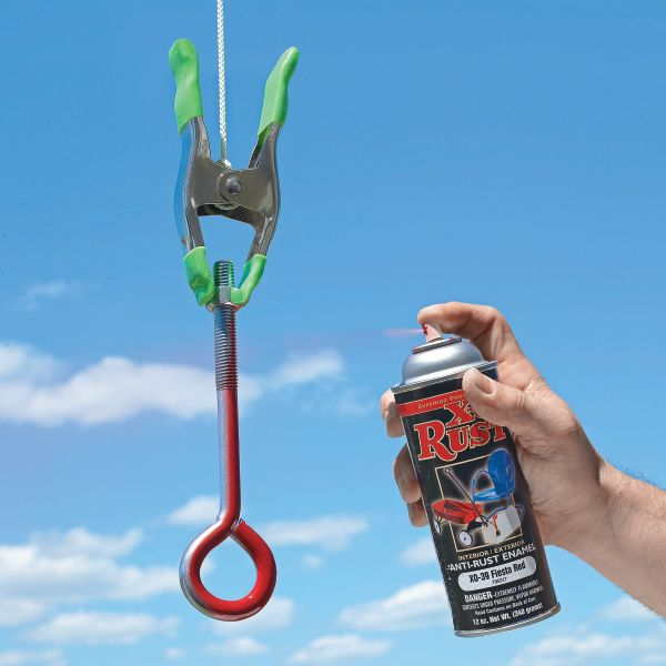 Spray Paint Time Saver Hang An Item From A Clamp So You Can Spray Paint All Sides At Once No More Waiting For One Side To Dry Time Saver Spray