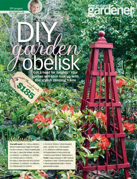 DIY garden obelisk - How pretty is this?!