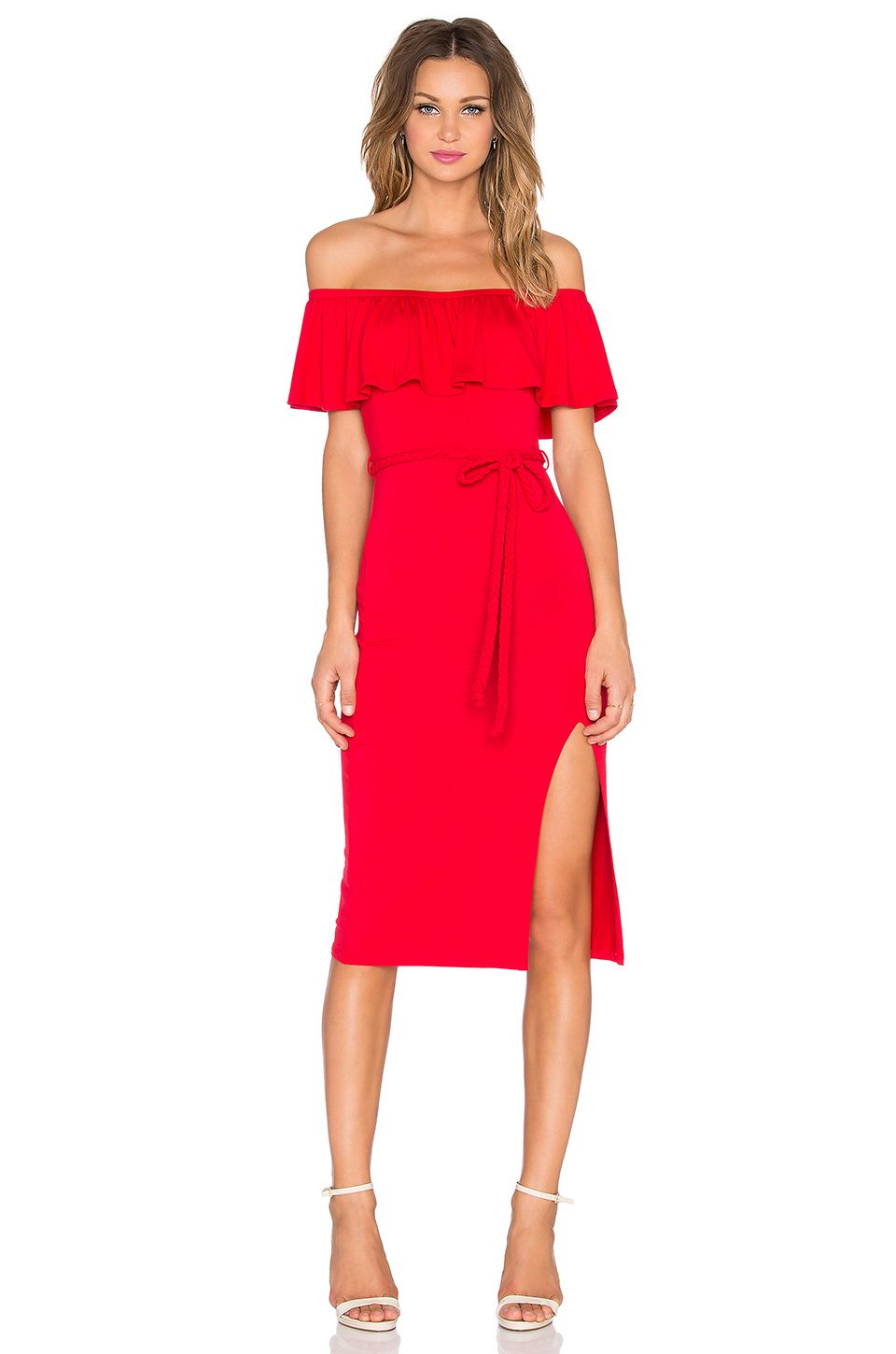Vava by joy han victoriana off shoulder dress in red revolve