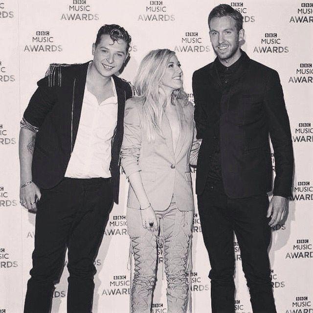 John Newman, Ellie Goulding and Calvin Harris