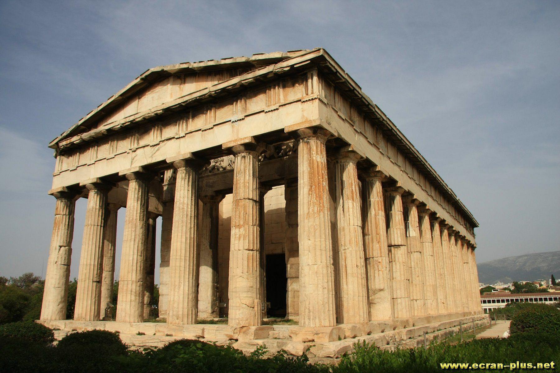 Le Temple D Hephaistos Sur L Agora Athenes Grece Avec Images
