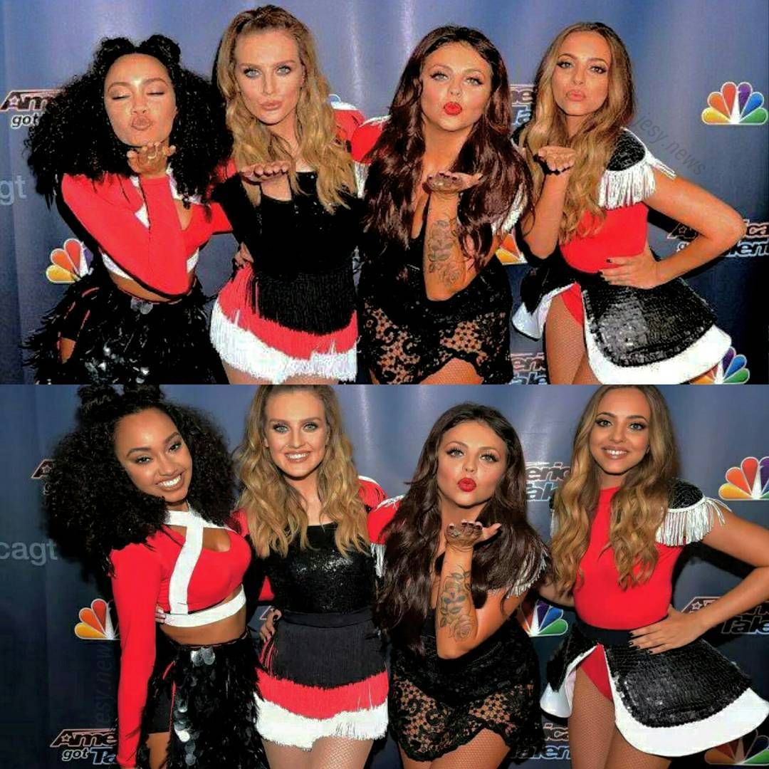 """""""Little Mix at the red carpet of AGT. @leigh_love_life @perrieeele @jesymix14 @jadeameliabadwi """""""
