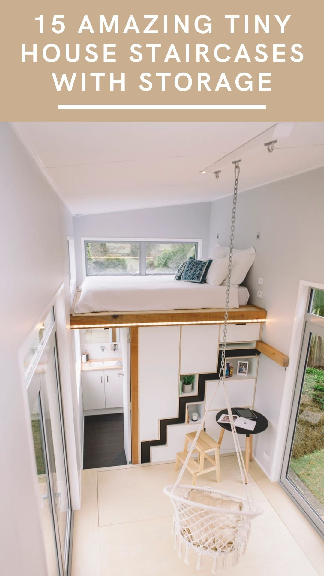 15 Creative Tiny House Staircases With Storage