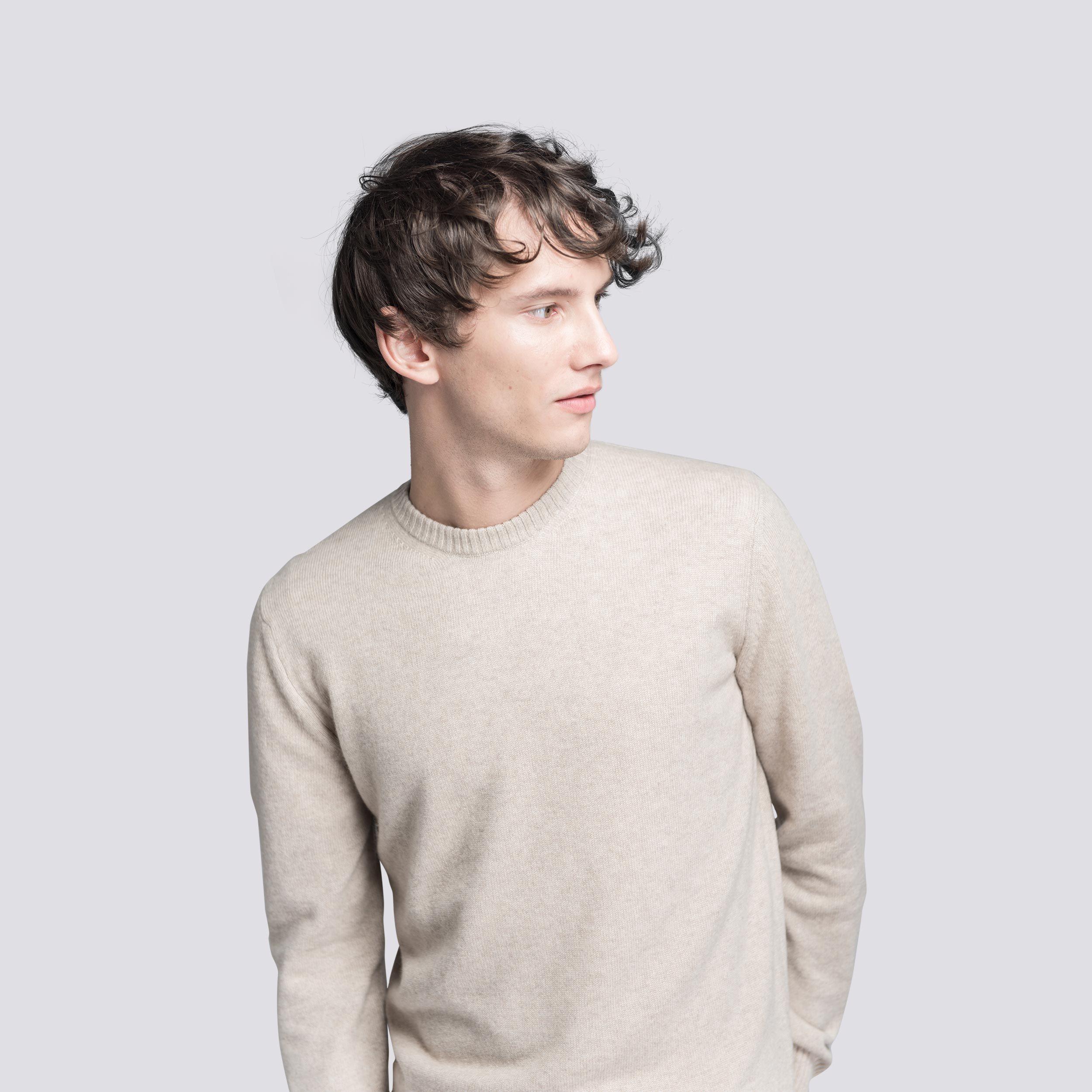 Asket 3 Ply Cashmere Sweater Cashmere Sweaters Long Sleeve Tshirt Men Knitwear Men [ 2500 x 2500 Pixel ]
