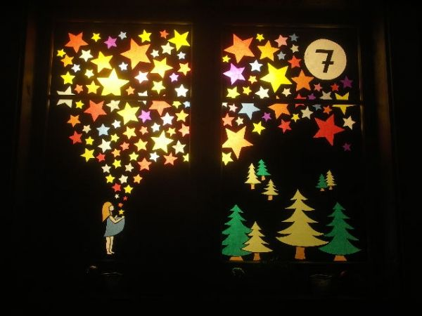 Adventsfenster Ideen.Adventsfenster Weihnacht Fenster Fensterbilder