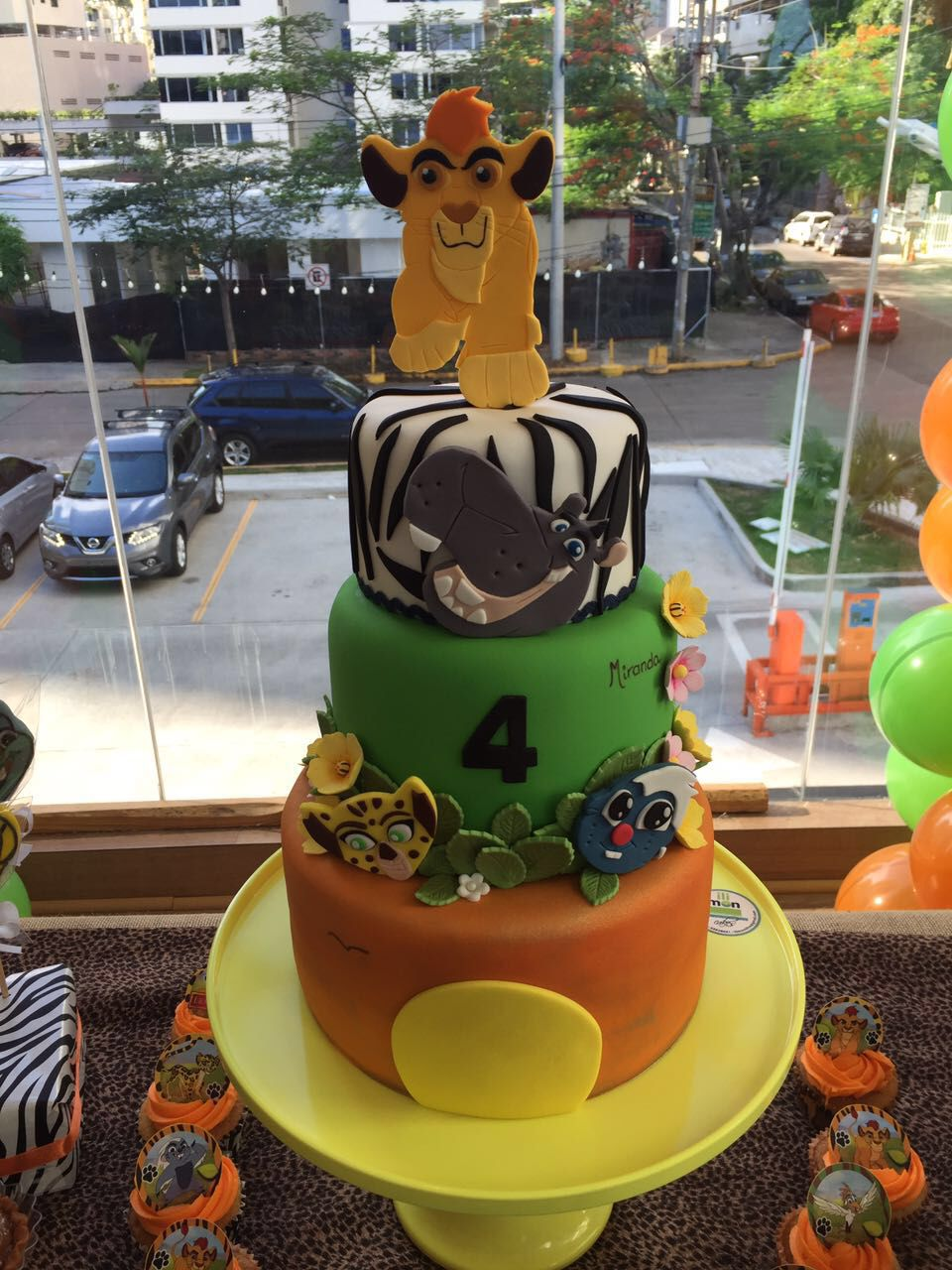 Lion Guard inspired cake and cupcakes Birthday Cake Party