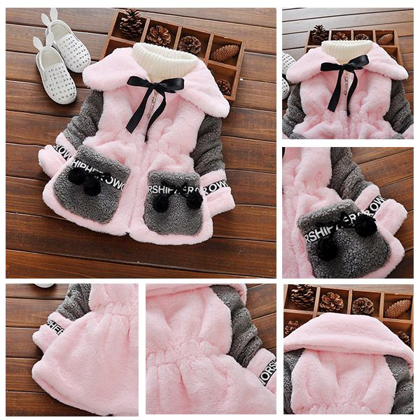 Most Of Girls And Their Mothers Like This Fashion Girls Plush Coat